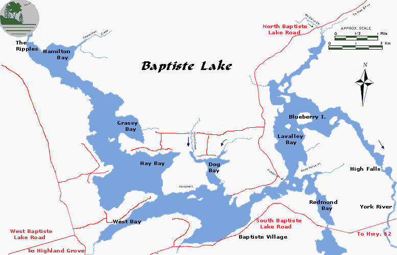 The Baptiste Lake Association - Ontario fishing lakes maps